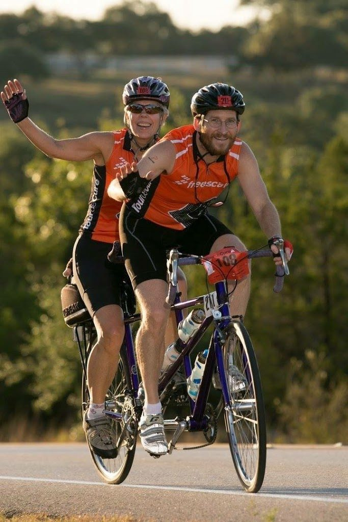 Lori And Dylan At The 2015 Easter Hill Country Ride. Tandem Cycling Rules!