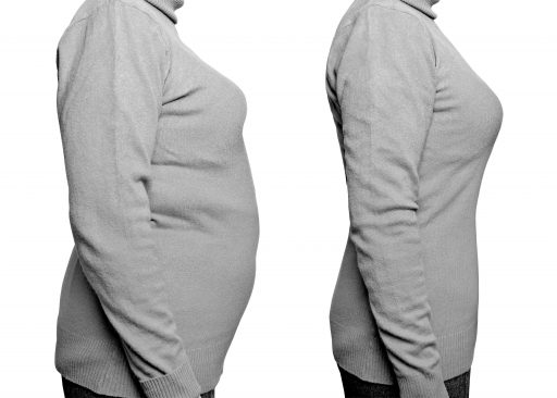 Before and after weight loss photo by shutterstock