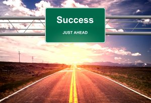 Success Just Ahead road sign - Success and successful life concept