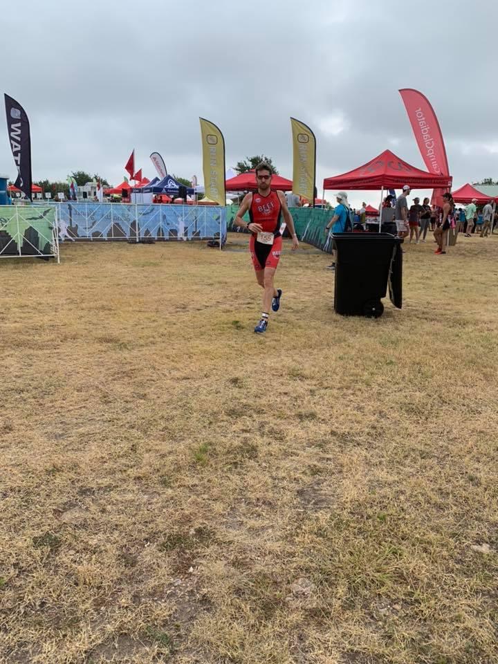 Dylan Cornelius beginning to run a 5k at the 2019 Jack's Generic Triathlon